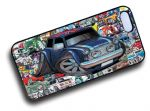 Koolart STICKERBOMB STYLE Design For Retro Classic Mini Cooper UJ Roof Hard Case Cover Fits Apple iPhone 4 & 4s